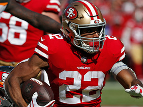 Breida breaks through tackles for 21-yard gain