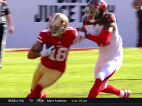 Mullens throws dart pass to Pettis for 25-yard gain
