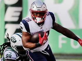James White sprints up the middle for a 24-yard gain