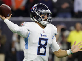 Marcus Mariota shows exceptional anticipation on deep out to Corey Davis