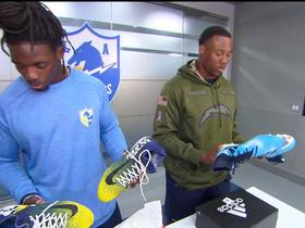 Chargers players share a sneak peak at their cleats