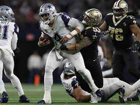 Saints' D ambushes Prescott for huge loss on first-down sack