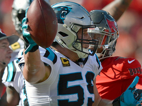 Peyton Barber fumbles on goal-line extension, Panthers recover