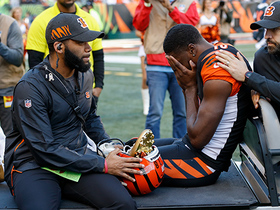 A.J. Green carted off the field in the first half