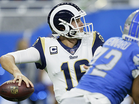 Goff's pinpoint TD throw beats outstretched Slay by inches