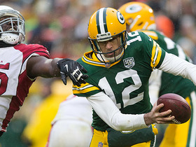 Chandler Jones envelops Rodgers for red-zone sack