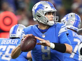 Stafford launches ball down the middle to Levine Toilolo for a 39-yard gain