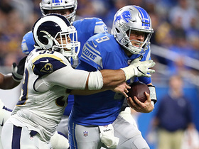 Donald splits double team to strip-sack Stafford