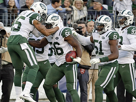 Jets block and recover Kern's punt