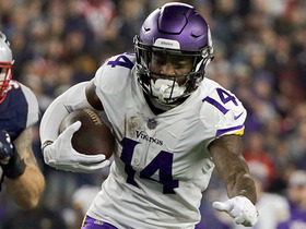 Stefon Diggs fights for yards on 24-yard catch
