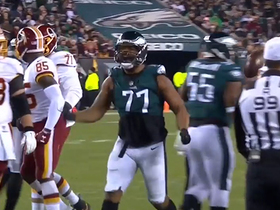 Michael Bennett is HYPED after Eagles smother A.P. in the backfield for loss