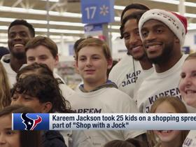 Kareem Jackson, Texans teammates took 25 kids on 'Shop with a Jock' shopping spree
