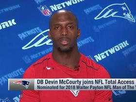 Walter Payton Man of the Year nominee Devin McCourty talks Pats' goals for '18