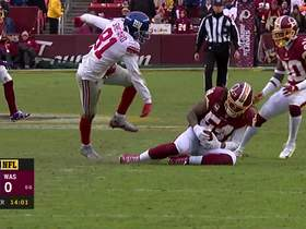 Mason Foster reads Lauletta's pass for INT