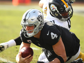 Stephon Tuitt tracks down Carr for a 10-yard loss