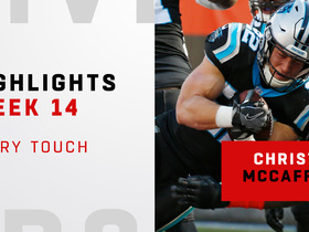 Every touch from Christian McCaffrey's 2-TD game | Week 14
