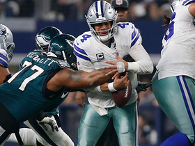 Eagles recover fumble after Bennett knocks ball loose