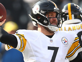 Big Ben throws go-ahead TD to JuJu after re-entering the game