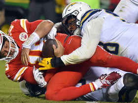 Chargers collapse the pocket for critical sack of Mahomes late