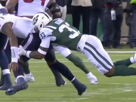 Jets collapse on Watson for 14-yard sack