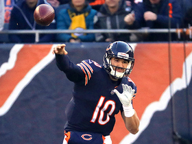 Trubisky escapes pressure to launch sideline dime to Shaheen