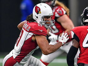 Larry Fitzgerald makes three Falcons miss on 16-yard gain