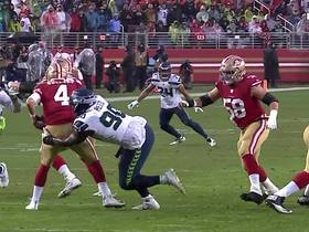 Jarran Reed loops in for another sack on Nick Mullens