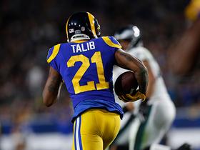 Talib's first INT as a Ram comes at crucial time
