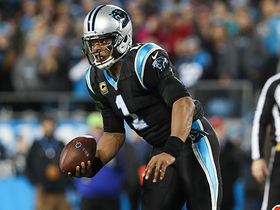 Cam pinballs out of would-be sack to pick up first down