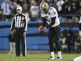 Morstead slow to get up after Panthers' roughing the kicker penalty