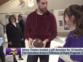 Adam Thielen hosted a gift donation for families