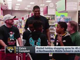 Calais Campbell hosts holiday shopping spree