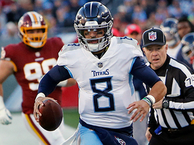 Mariota spins to evade defenders on dramatic first-down run