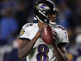 Lamar Jackson steps into first-down pass to Mark Andrews