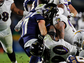 Ravens bring the pressure to swallow Rivers on sack