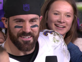 The Weddle family swarms the NFL Network postgame set