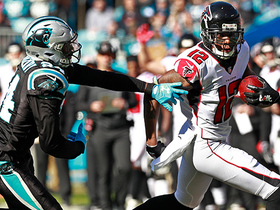 Sanu darts past Panthers defense for 24-yard gain