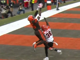 David Njoku channels Randy Moss on TD grab