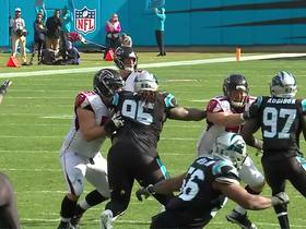 Panthers recover fumble after Kyle Love slaps ball out of Ryan's hand