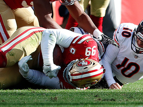 Niners' D recovers fumble after Trubisky's miscue