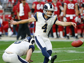 Zuerlein's moonshot 57-yard FG bangs off upright to close first half