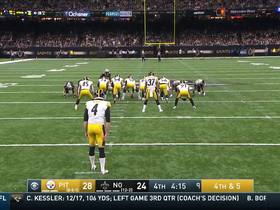Steelers' fake punt comes up just short on fourth down
