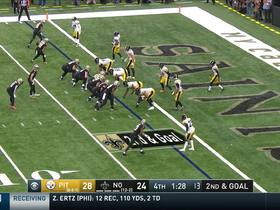 Saints take late lead on Thomas' stellar TD catch near the pylon