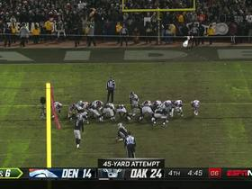 Raiders capitalize on turnover with 45-yard FG from Carlson