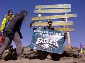 Chris Long dons Philly's 'Underdog' mask atop Kilimanjaro | 'The Way Up'