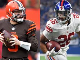 More deserving of Offensive Rookie of the Year: Mayfield or Barkley?
