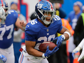 Saquon sets single-season reception record for rookie RB