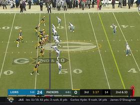 Cobb hauls in 27-yard sideline grab in tight coverage