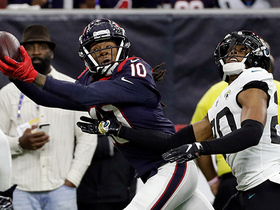DeAndre Hopkins beats Jalen Ramsey to bring down 43-yard catch