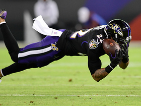 Jimmy Smith dives for incredible interception